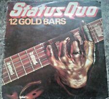 "Status Quo - 12 Gold Bars 12"" Vinyl LP 1980 Rockin' All Over The World Caroline"
