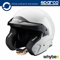 New! 003353 Sparco PRO RJ-3 Open Face Race Rally Helmet White SNELL FIA HANS