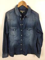 COMMA, Jeans Bluse, Größe 42, 100% Baumwolle, NEU