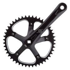 """Origin8 Track Crankset 165mm Black 46T x 1/8"""" JIS Single Speed Fixed Gear Bike"""