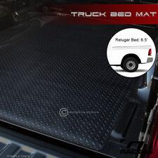 FOR 2009-2017 DODGE RAM RAMBOX 6.4' BLACK RUBBER DIAMOND TRUCK BED RUG FLOOR MAT
