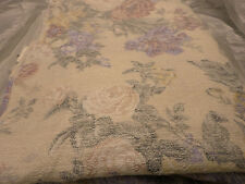 2968 Queen Bed Skirt Tailored Sleepquarters Usa Ivory w/Mute Pastel Flowers New