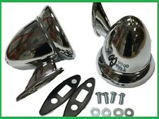 Pair Classic Chrome Bullet Wing Mirrors for Classic Cars MG,Triumph,Ford,Jag etc