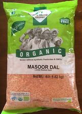 Masoor Dal, Red Lentil Organic - 4 lbs, USA Seller Free Shipping!