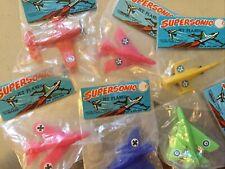 6 Supersonic Jet Plane Toys - Vintage Dime Store