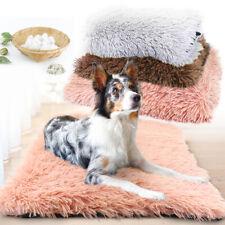 Soft Plush Pet Cat Dog Mat Washable Blanket Cushion Kennel Sleep Bed Pink Gray