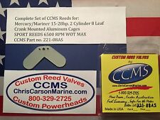 CCMS Mercury Sport Outboard Reed 15-28hp 2 Cyl 8 Leaf Alumin. Cages PN.221-08AS