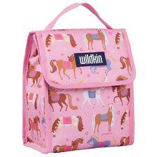 Wildkin Olive Kids Pink Horse Munch 'n Lunch Bag