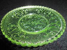 Green Vaseline heart valentines day lyre harp glass cup plate uranium tea saucer