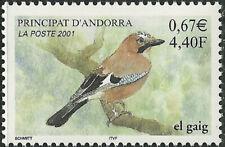 French Andorra #538 MNH CV$2.00 2001 Bird