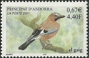 French Andorra #538 MNH 2001 Bird