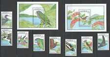 S0195 1990 DOMINICA FAUNA BIRDS #1328-37 MICHEL 32 EURO 1SET+2BL MNH