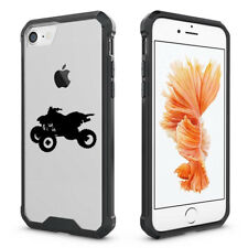 For iPhone X 6 6s 7 8 Plus Clear Shockproof Bumper Case Cover ATV 4 Wheeler