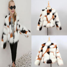 Faux fur outerwear sizes 4 up for girls ebay kids baby girls autumn winter faux fur coat jacket thick warm outwear clothes 6t publicscrutiny Gallery