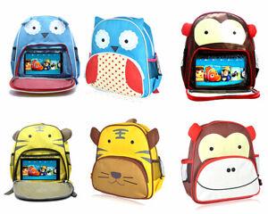 BoysGirls Kids Backpack Junior Toddlers Lunch Bag with tablet holder-uk stock