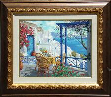 Viktor Shvaiko Greece Hand Embellished Signed Art Serigraph on Canvas