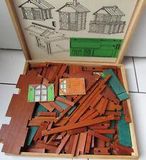 Ancien jeu de construction en bois style jeujura