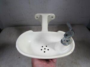 Vintage 1950s Century Wall Mount School Water Drinking Fountain Bubbler