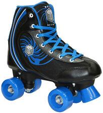 New! Epic Rock Candy Quad Roller Skates + 2 Pr. Laces (Black & Blue)