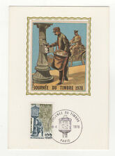 journée du timbre 1978 timbre France 1er jour FDC carte maximum /T2612