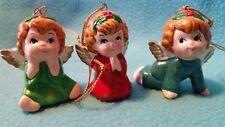 "George Z Lefton Colorful Ornaments Angels Trio ""Trademark Exclusive"" Sri Lanka"