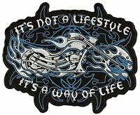 Ecusson patche dorsal dos grande taille Way Of Life patch DIY motards