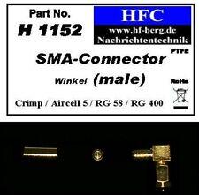 1 unidades de SMA ángulo conector (Crimp) para aircell 5/RG 58 de cable coaxial 50 Ω (h1152)