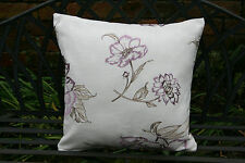 Cushion cover made in TRU Textiles - montagnac lilac with lucille silk reverse