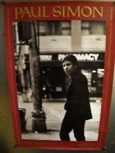 PAUL SIMON Large Rare 1990 record company PROMO POSTER Rhythm Of The Saints