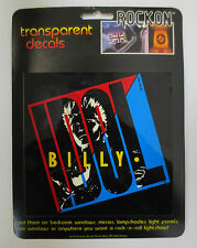 BILLY IDOL ROCK ON TRANSPARENT DECALS CAR DECAL WINDOW ROCK & ROLL DONT STOP