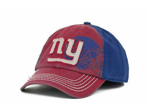 New York Giants Webster NFL Franchise Helmet Logo Stitch Red & Blue Hat Cap NY L