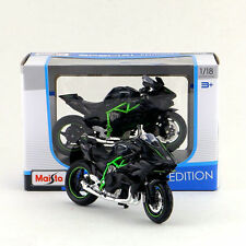 Black H2R 1/18 Kawasaki Ninja Maisto Diecast Motorbike Vehicles Kids Toy