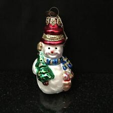 Thomas Pacconi Blown Glass Snowman Ornament From The 2003 Classic Collection