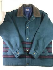Pendleton Medium Wool Jacket With Thinsulate Lining And Leather Collar