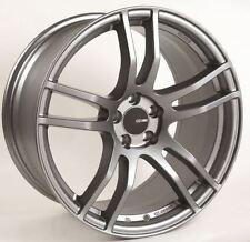 17x8 Enkei TX5 5x112 +45 Platinum Grey Rims Fits VW cc eos golf rabbit