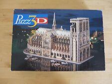 NOTRE DAME DE PARIS PUZZLE 3D PUZZ'3D 952 PIECES EN MOUSSE Vintage