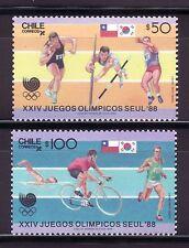 SELLOS OFERTA!!! CHILE 1988 835/36 Juegos Olímpicos Seul 1988 2v.