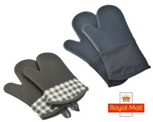 1Pair Oven Gloves Heat Resistant Silicone Cooking baking  Pot Holder Non-Slip