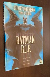 BATMAN RIP Deluxe Edition Hardcover -- Grant Morrison OOP HC