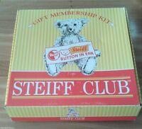 ❤️STEIFF Club Complete 1997 -98 Membership Kit Teddy Bear Catalog & extras Box❤️