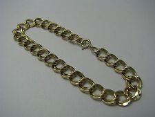 GOLD PLATED STERLING SILVER BRACELET DOUBLE LINK CHAIN BRACELET 925 Silver c1980