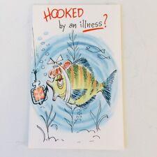 Vintage Unused Greeting Card - MCM - Get Well Fish Ocean Nautical