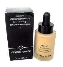 Giorgio Armani Octinoxate Sunscreen Fusion Makeup Foundation ~ 4 ~ 1.0 oz BNIB