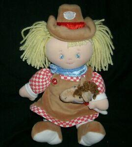 """12"""" BABY GUND CARLINE COWGIRL GIRL DOLL STUFFED ANIMAL PLUSH TOY 58644 HORSE"""