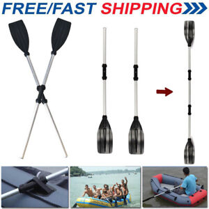 "2PCS 96"" Durable Aluminium Kayak Paddles Lightweight Join Together Boat Oars UK"
