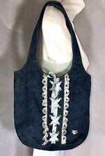 Vintage Rampage Denim Lace Ribbon Handbag Girls women Easter Spring Summer