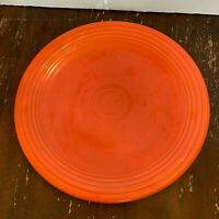 Authentic Vintage Homer Laughlin Red Fiesta 12 Inch Chop Plate