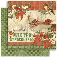 "Graphic 45 Winter Wonderland - 12x12"" Scrapbooking Paper - Christmas"