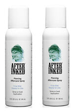 After Inked Piercing Spray Healing Body Mouth Piercings Aftercare 2 PACK