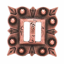 "Slotted Square Concho Antique Copper  1-1/4"" 7485-10S"